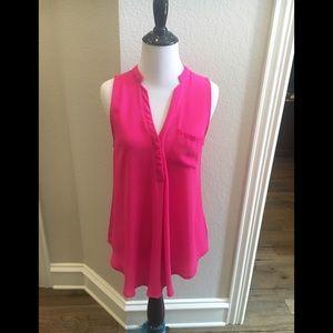 Lush hot pink sleeveless blouse